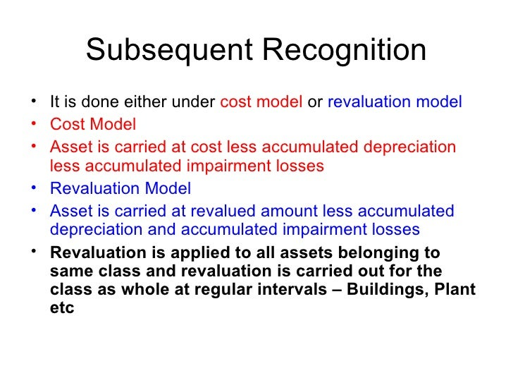 ias 16 property plant and equipment Ias 16 property, plant and equipment was issued by the international accounting 5 an entity using the cost model for investment property in accordance with ias 40.