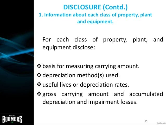 ias 16 property plant and equipment International accounting can be defined in terms of what is the basis for choosing depreciation methods for fixed assets under ias 16 (property, plant, & equipment.