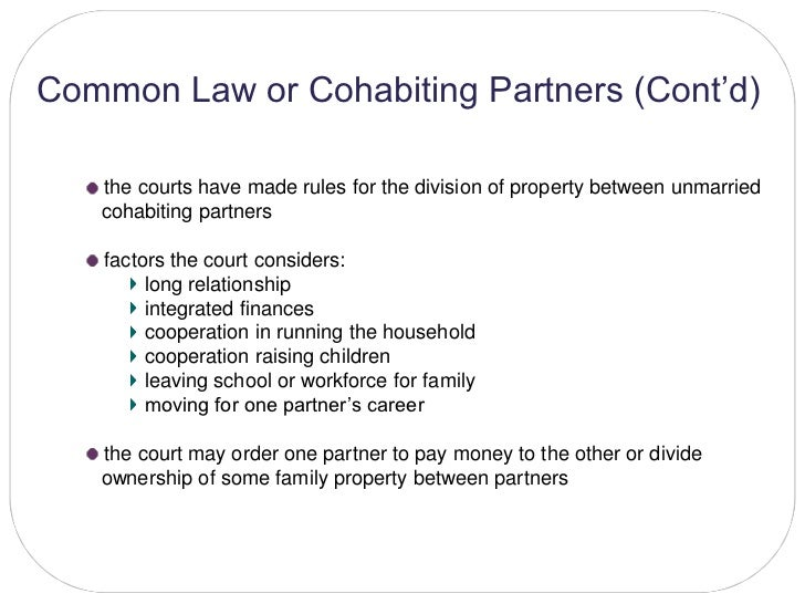 Common Law Spouse Property Rights