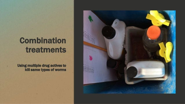 Combination treatments Using multiple drug actives to kill same types of worms