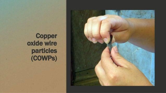 Copper oxide wire particles (COWPs)