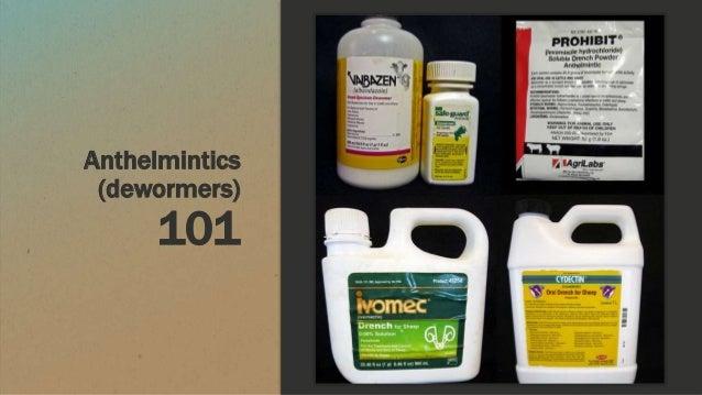 Anthelmintics (dewormers) 101