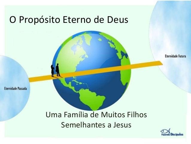 O Propósito Eterno de Deus       Uma Família de Muitos Filhos          Semelhantes a Jesus