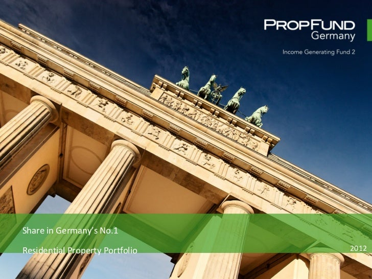 Share in Germany's No.1  Residential Property Portfolio 2012