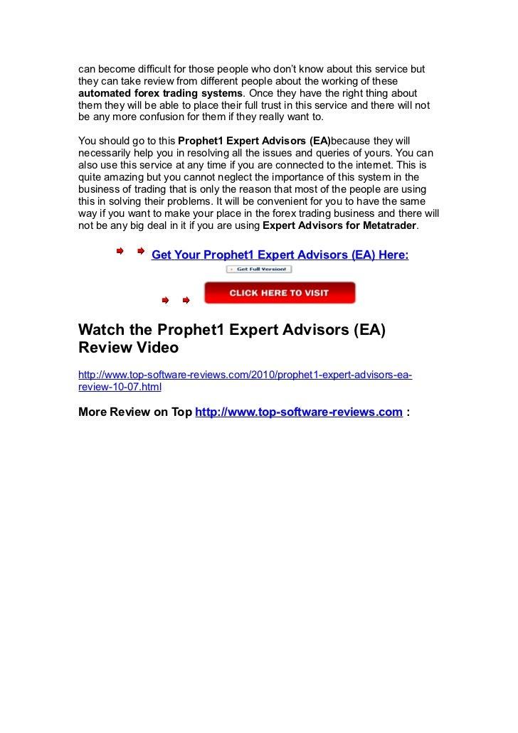 Prophet1 forex expert advisor