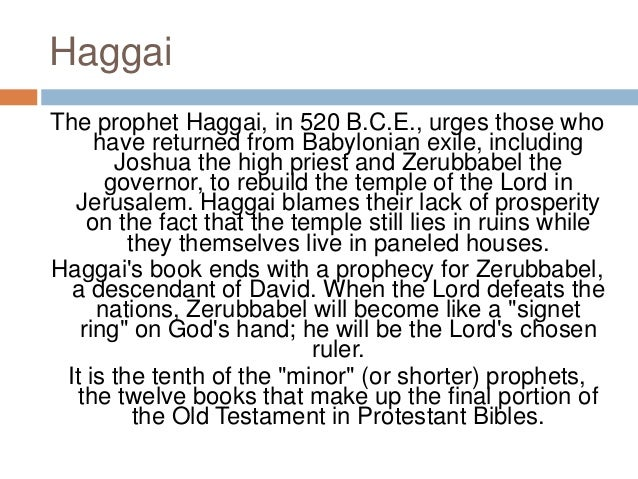 the prophetic books of the bible