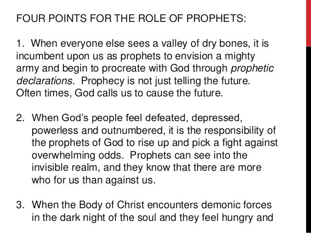 Introduction to the Prophetic Ministry