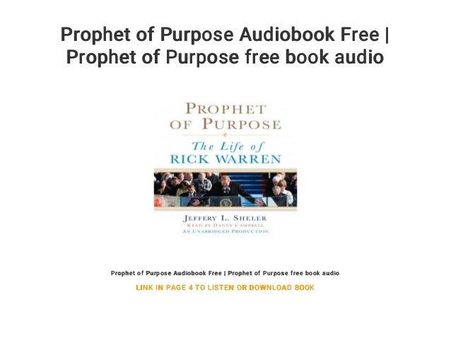 Prophet of Purpose Audiobook Free | Prophet of Purpose free