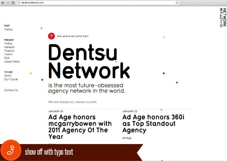 dentsunetwork.com3     show off with typo text