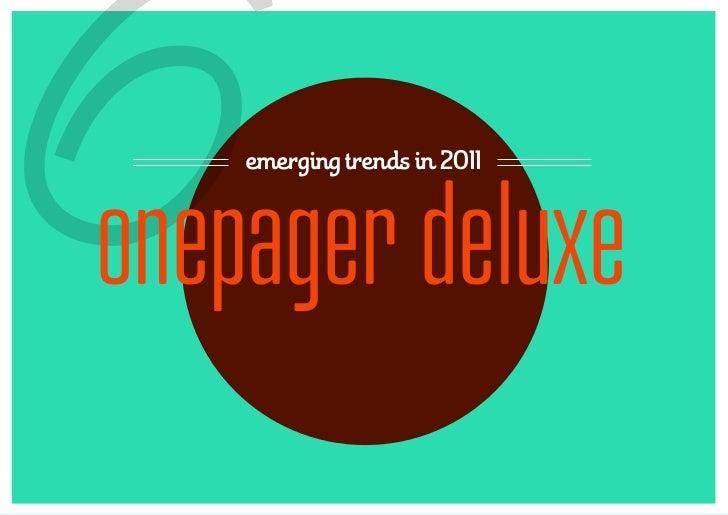 6   emerging trends in 2011onepager deluxe