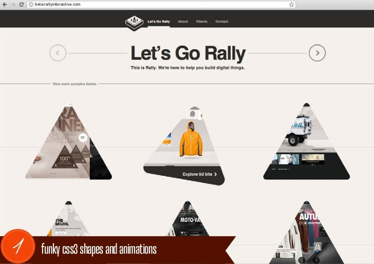 beta.rallyinteractive.com1      funky css3 shapes and animations