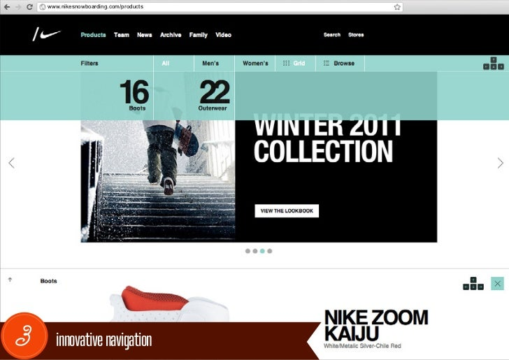 www.nikesnowboarding.com/products3     innovative navigation