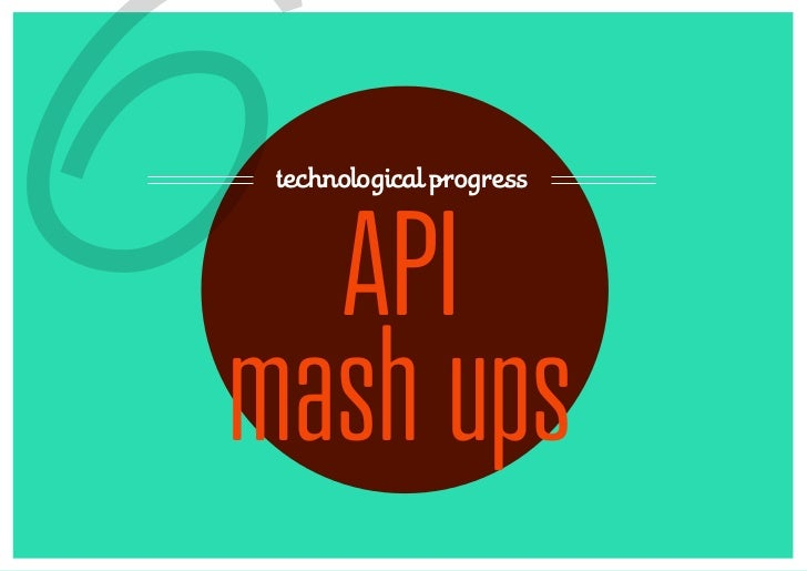 6technological progress  APImash ups