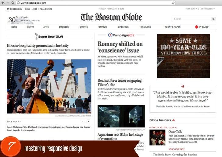 www.bostonglobe.com7     mastering responsive design