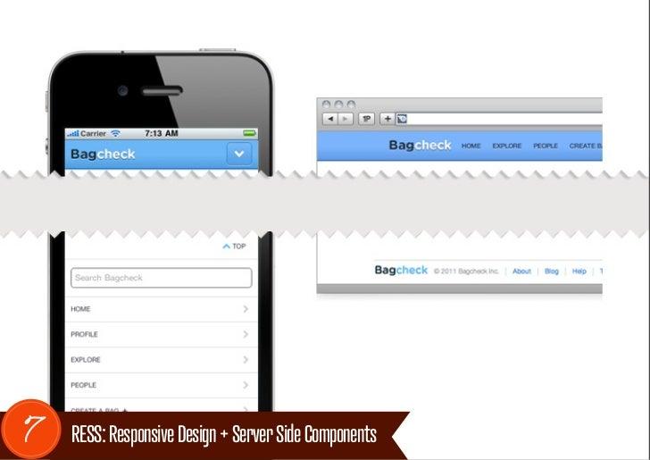 7   RESS: Responsive Design + Server Side Components