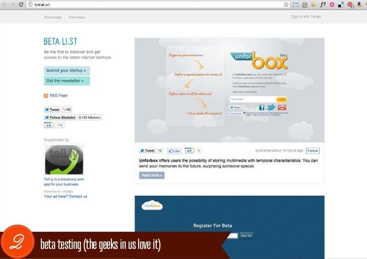 betali.st2      beta testing (the geeks in us love it)