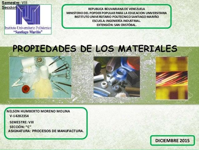 REPUBLICA BOLIVARIANA DE VENEZUELA MINISTERIO DEL POPDER POPULAR PARA LA EDUCACION UNIVERSITARIA INSTITUTO UNIVERSITARIO P...