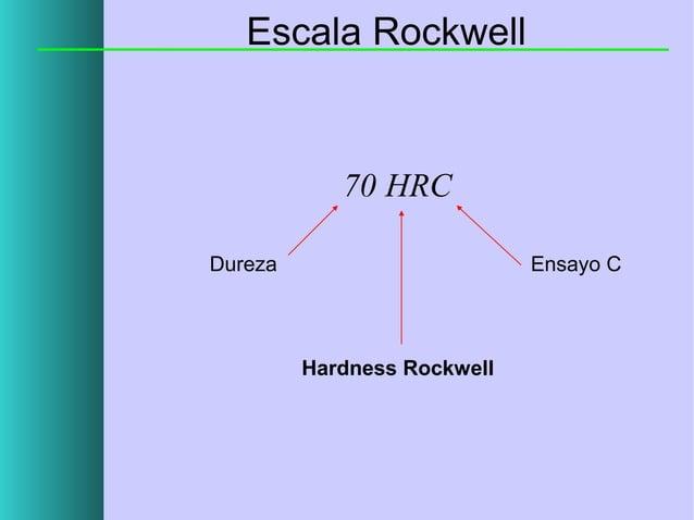 Escala Rockwell  70 HRC Dureza  Ensayo C  Hardness Rockwell