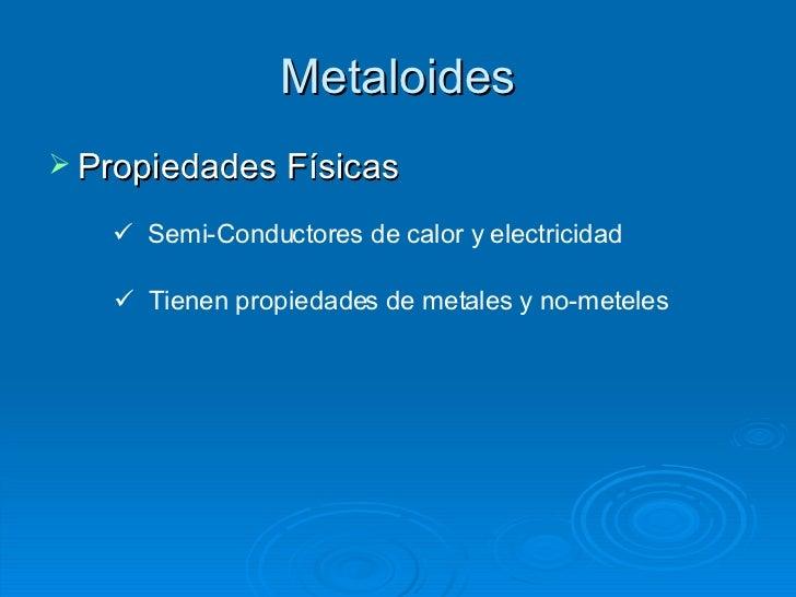 Propiedades metales nometales metaloides urtaz Choice Image
