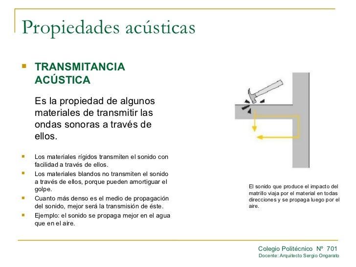 Propiedades acusticas for La oficina caracteristicas