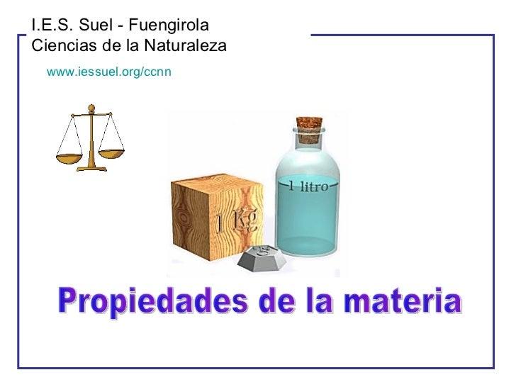 I.E.S. Suel - Fuengirola Ciencias de la Naturaleza  www.iessuel.org/ccnn