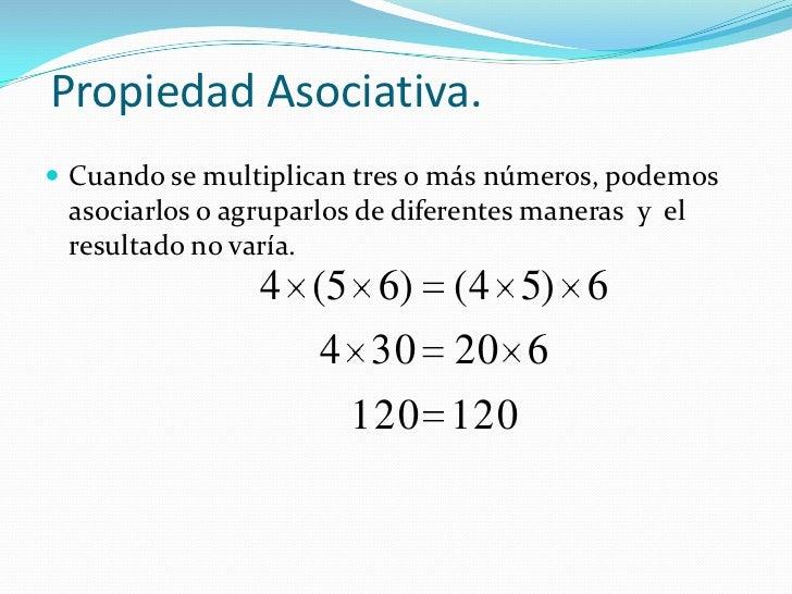 Resultado de imagen de propiedad asociativa de la multiplicacion