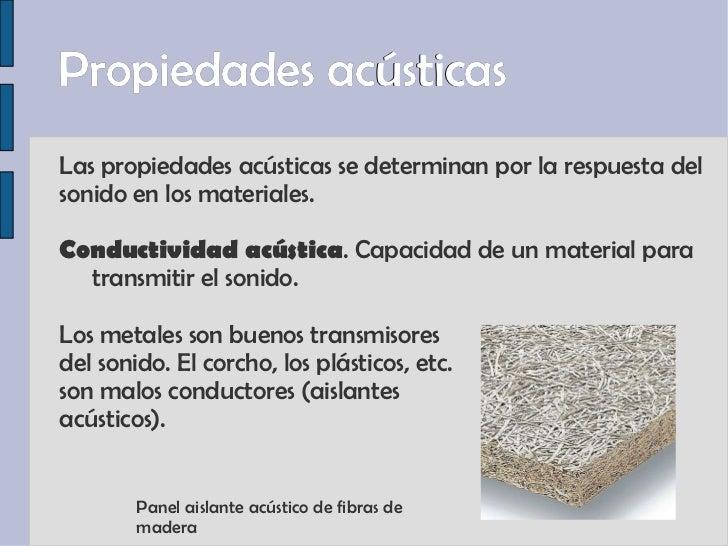 Propiedades de los materiales ii - Materiales aislantes acusticos ...