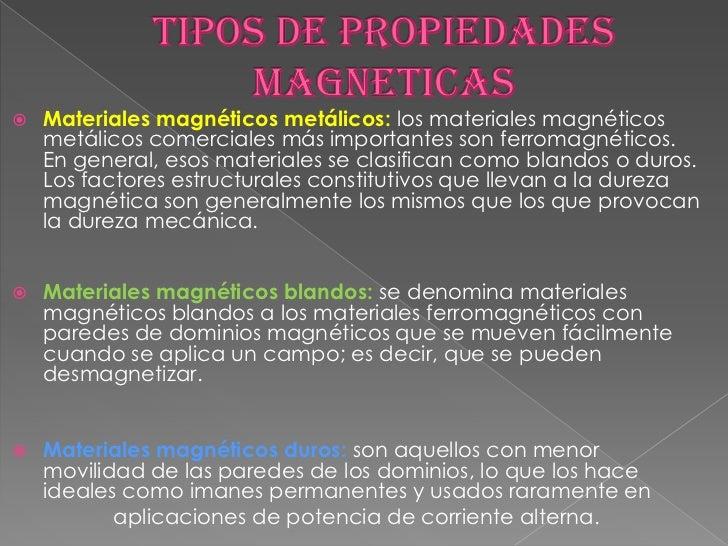 Propiedades de los materiales magneticos