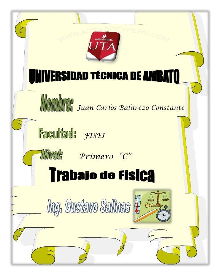 """Juan Carlos Balarezo Constante FISEIPrimero """"C"""""""