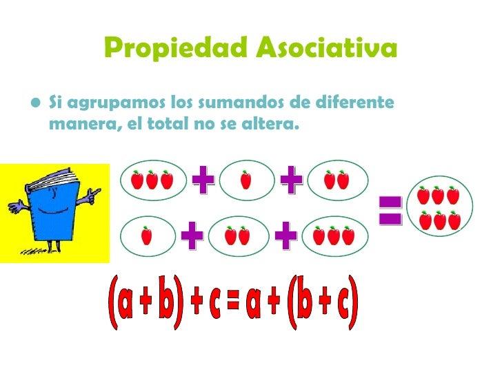 Resultado de imagen de propiedades de la suma