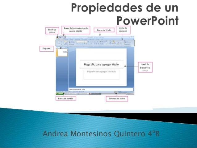 Andrea Montesinos Quintero 4ºB