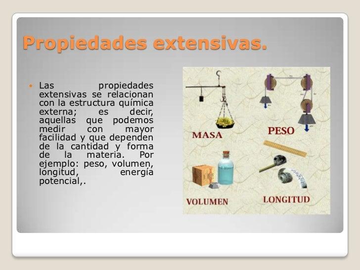 Propiedades extensivas e intensivas for Inmobiliaria o inmobiliaria