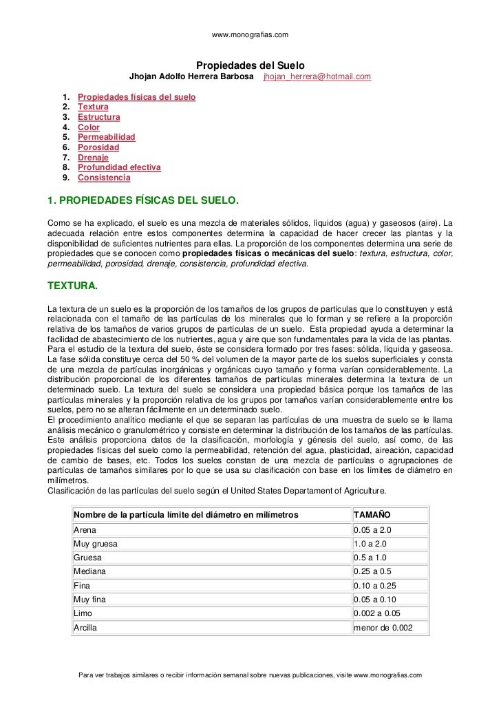 www.monografias.com                                                Propiedades del Suelo                          Jhojan A...
