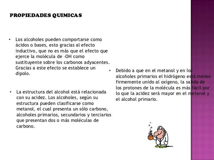 Propiedades fisicas y quimicas de los alcoholes - Usos del alcohol ...