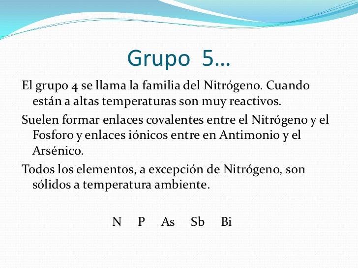 Propiedades fisicas y quimicas de los grupos grupo 4 urtaz Choice Image