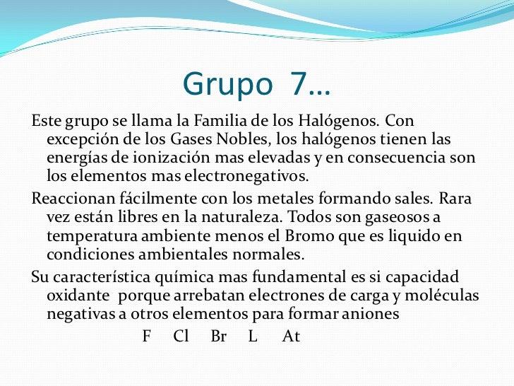 grupo 6 - Tabla Periodica Grupo 6 A