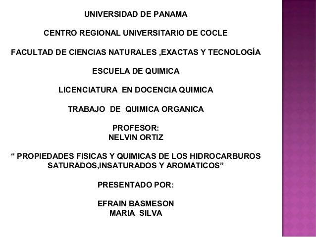 UNIVERSIDAD DE PANAMA       CENTRO REGIONAL UNIVERSITARIO DE COCLEFACULTAD DE CIENCIAS NATURALES ,EXACTAS Y TECNOLOGÍA    ...