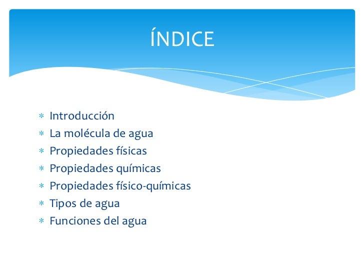 Propiedades Físico Químicas Del Agua