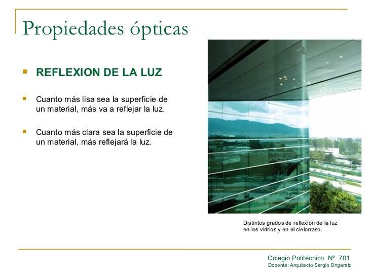 Propiedades opticas for Pared que deja pasar la luz