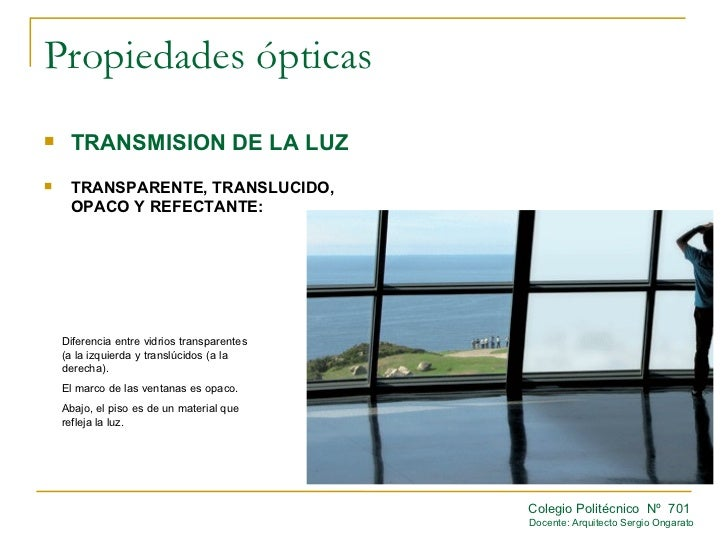 Propiedades opticas for Inmobiliaria definicion