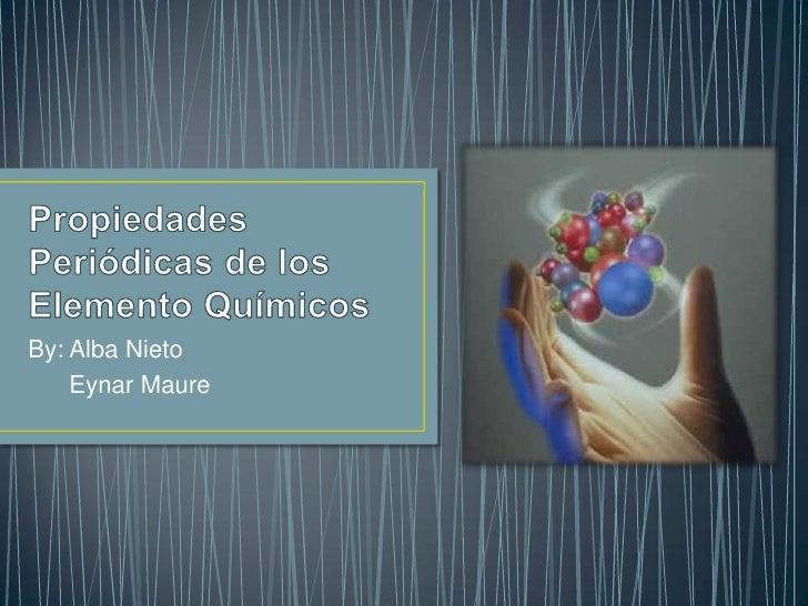 By: Alba Nieto    Eynar Maure