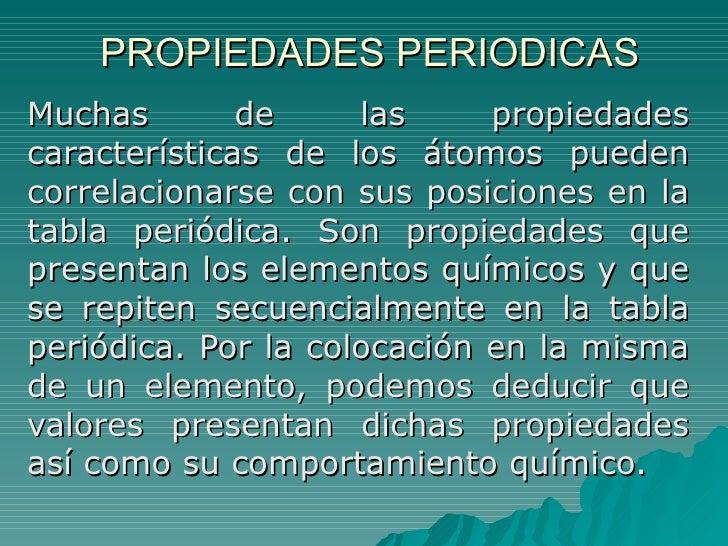 Propiedades periodicas y enlace quimico propiedades periodicasmuchas de las propiedadescaractersticas de los tomos puedencorrelacionarse urtaz Image collections