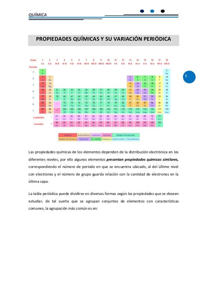 Propiedades quimicas y su variacion periodica urtaz Image collections
