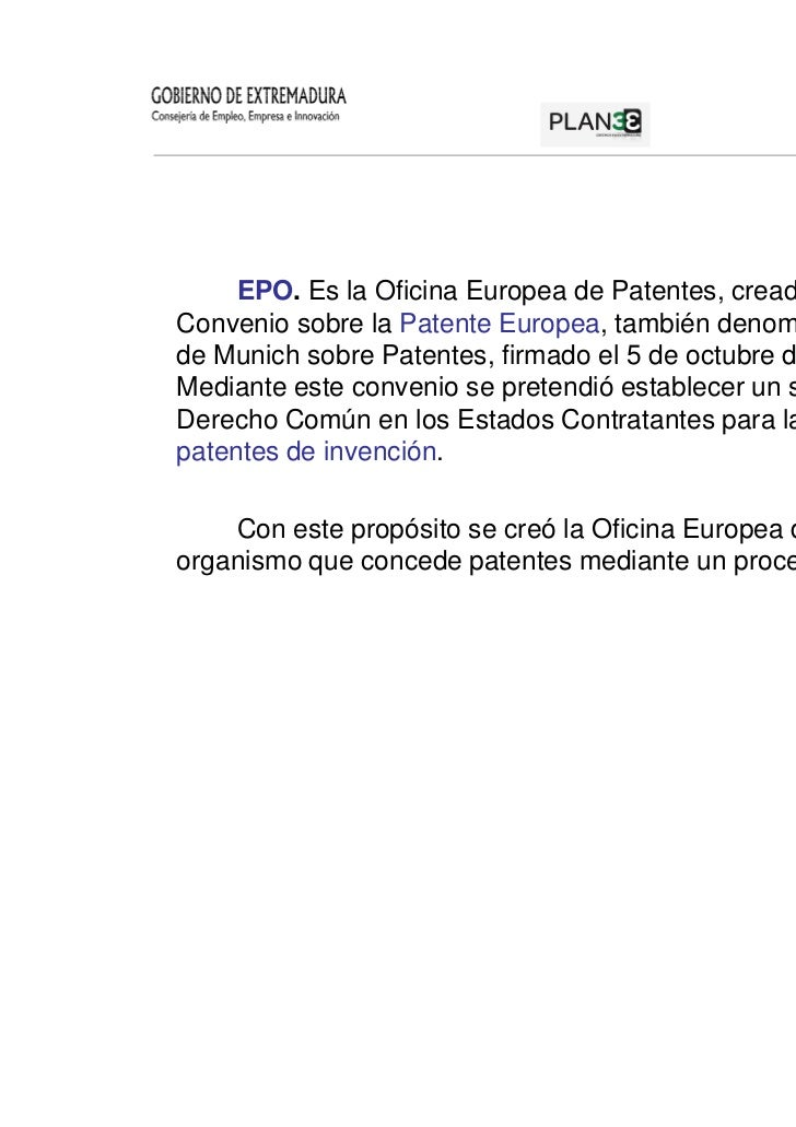 Propiedad industrial y registro de marcas 28 junio 2012 for Oficina europea de patentes