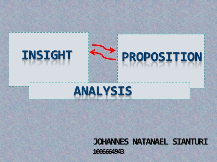 INSIGHT              PROPOSITION          ANALYSIS            JOHANNES NATANAEL SIANTURI            1006664943