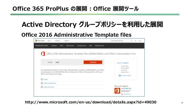 Office 365 Proplus の展開 ~2016~