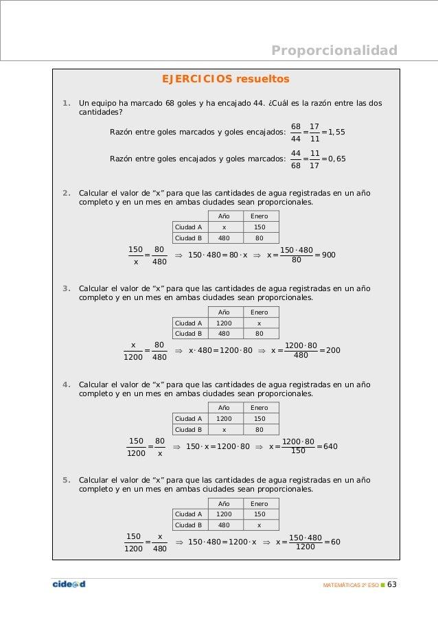 Proporcionalidad Y Repartos Proporcionales