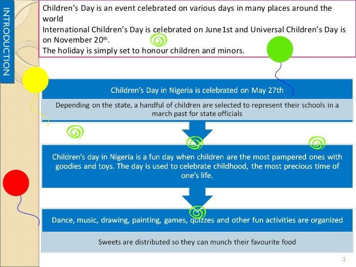 Proposal On Maardecs Novel Childrens Day Celebration