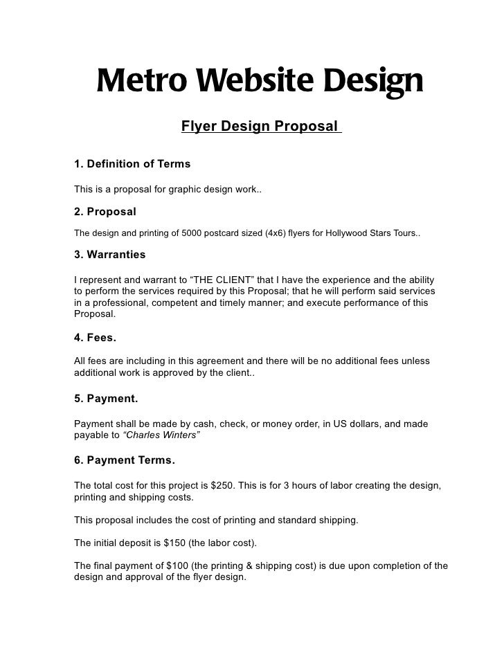 Metro Website Design                          Flyer Design Proposal1. Definition of TermsThis is a proposal for graphic de...