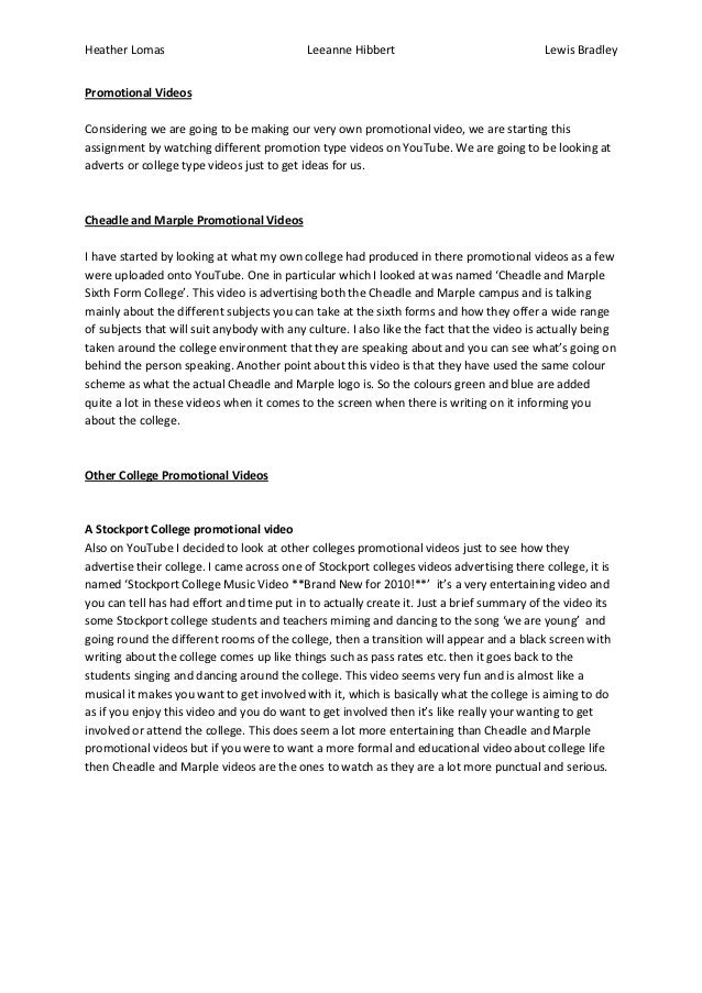 Heather Lomas                               Leeanne Hibbert                                Lewis BradleyPromotional Videos...